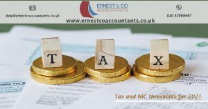 Tax and NIC Thresholds for 2021